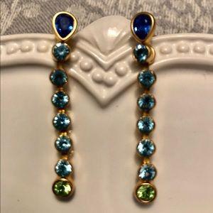 Ralph Lauren Earrings Blue Turquoise Green Gold